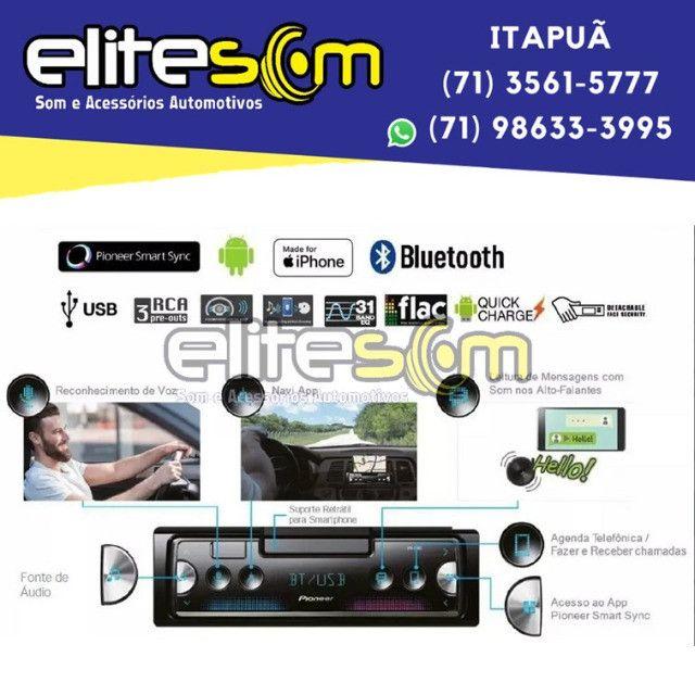 Aparelho Pioneer Sph-c10bt Smartphone Bluetooth Smart Sync instalado na Elite Som - Foto 12