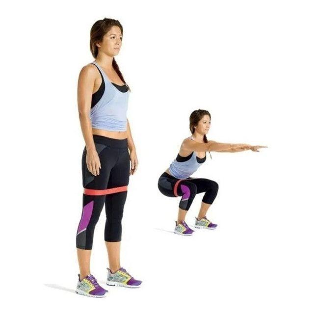 Treine em casa Elastico exercicio academia kit - Foto 3
