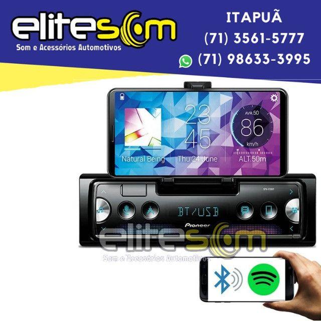 Aparelho Pioneer Sph-c10bt Smartphone Bluetooth Smart Sync instalado na Elite Som - Foto 5