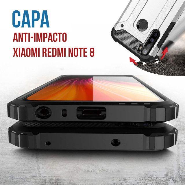 Capa De Celular Anti-impacto Preta Para Xiaomi Redmi Note 8