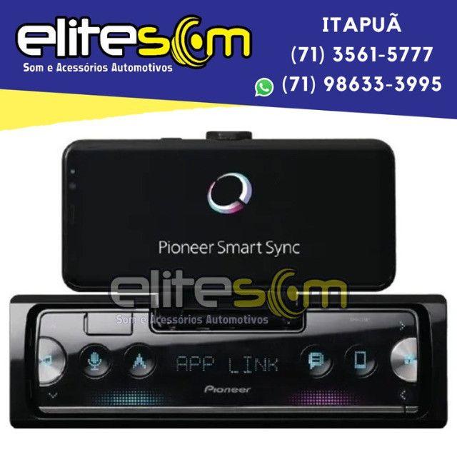 Aparelho Pioneer Sph-c10bt Smartphone Bluetooth Smart Sync instalado na Elite Som - Foto 6