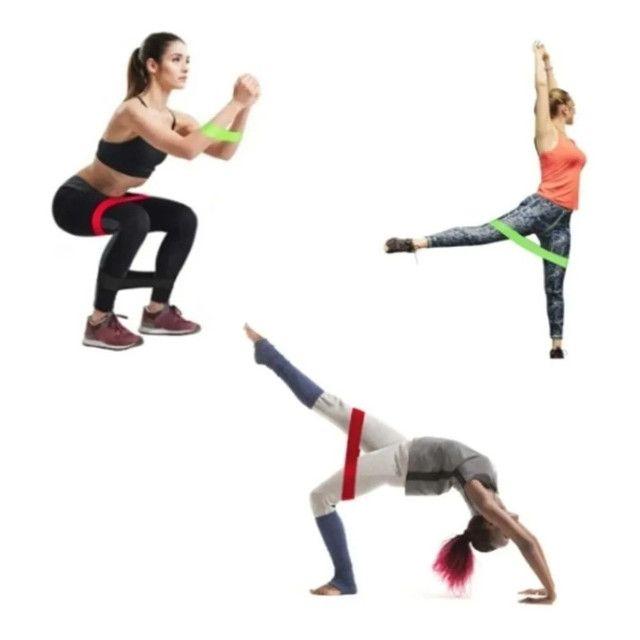 Treine em casa Elastico exercicio academia kit - Foto 2