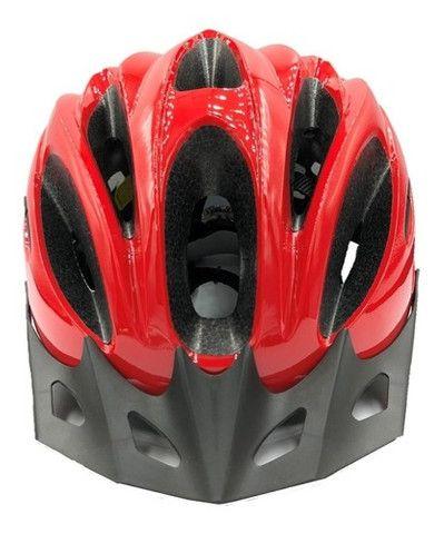 Capacete Ciclismo Absolute Nero Com Pisca Led Bike Mtb Speed - Foto 3