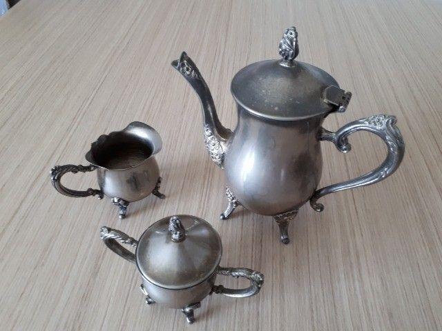 Jogo bule prata português antiguidade - Foto 4