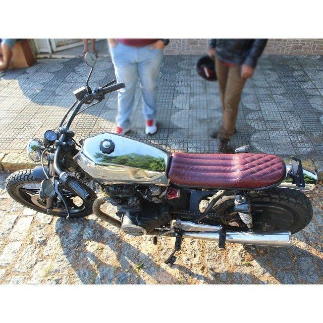 Moto Coffe Racer Custom - CB 400 82 Estilizada Tracker 1982 - Foto 9