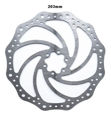 Disco Rotor Freio Bike Absolute Yrt01 Inox 160mm 180mm 203mm - Foto 3