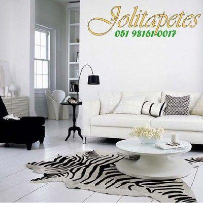 Tapetes couro boi serigrafia zebra.Veja preços abaixo
