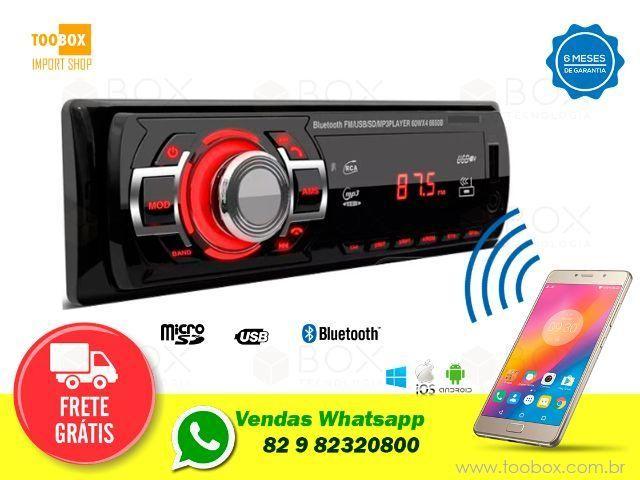 Som Automotivo Bluetooth, SD, AM, FM, USB -Entrega Grátis
