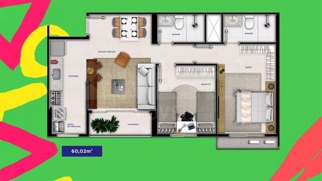 Apartamento à venda com 2 dormitórios em Serrinha, Goiânia cod:620871 - Foto 12