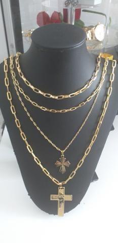 3af52465d55 Cordões cartier folheado a ouro 18k