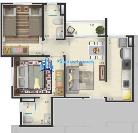 Apartamento de 1 e 2 dormitórios , com sacada e lazer - Apartamento em Lançament... - Foto 11