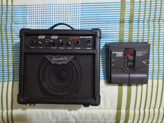 Amplificador Strinberg SG15 + Pedaleira Zoom 505
