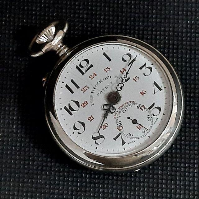 Relógio de Bolso Roskopf SA Patent