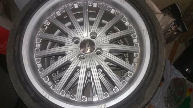 Rodas aro 17 +2 pares de pneus 205 e 215 _17 - Foto 4