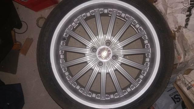 Rodas aro 17 +2 pares de pneus 205 e 215 _17 - Foto 2