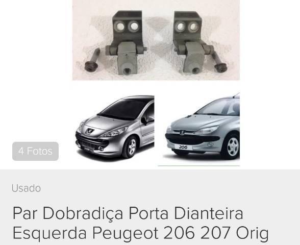 Par Dobradiça Porta Linha Peugeot 206 / 207 Passion / SW Escapede