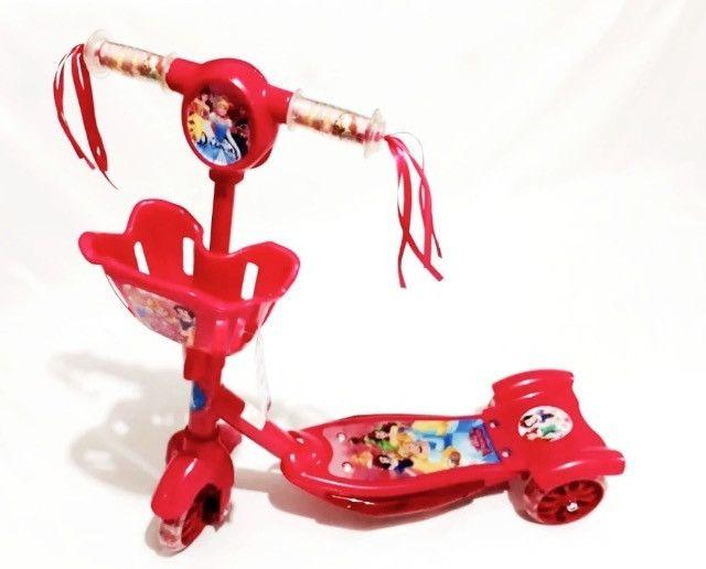 Patinete Infantil / 3 rodas / Freio / Vermelho. (Entrega Grátis / Aceito Cartão) - Foto 2