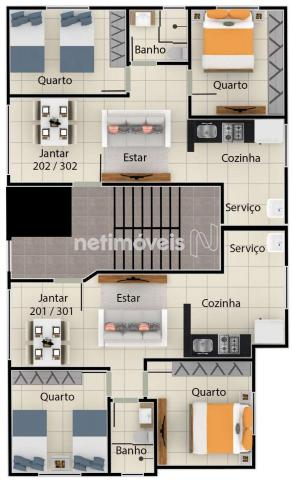 Apartamento à venda com 2 dormitórios em Serra dourada, Vespasiano cod:847933 - Foto 10