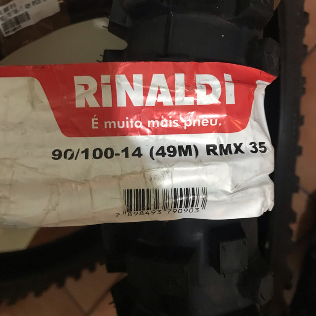 par de pneu rinaldi rmx 35 - Foto 2
