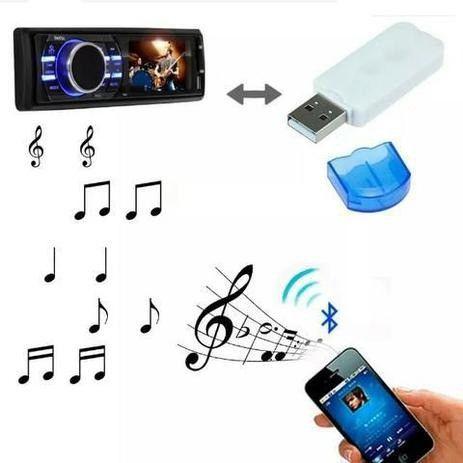 Adaptador Receptor USB para Bluetooth Pendrive Para Som de Carro Musica