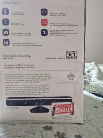 Xbox 360 pouco uso com defeito no leitor mais Kinect e acessórios - Foto 2