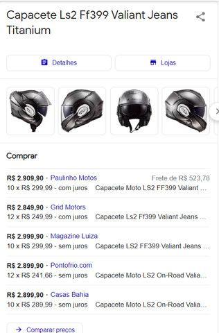 Capacete LS2 FF399 Valiant Jeans Tamanho-56 Cor-Titanium - Foto 13