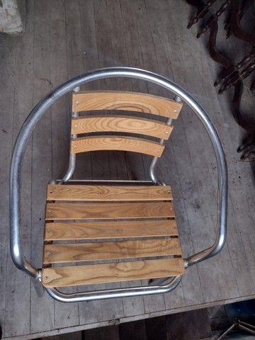 Cadeiras Alumínio e Madeira