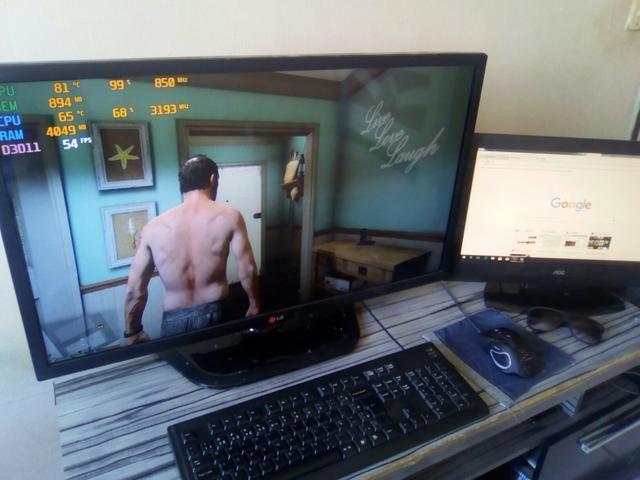 PC Gamer roda bf1/Gta 5/CS Go