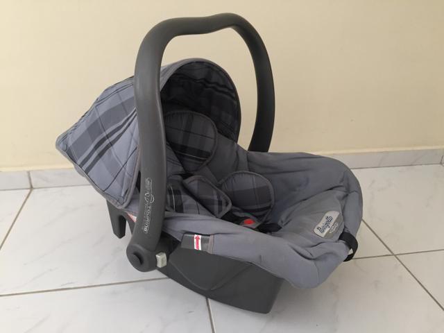 Bebê conforto Burigotto Cinza + Capa azul Marinho