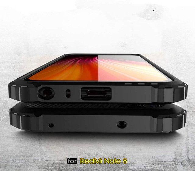 Capa De Celular Anti-impacto Preta Para Xiaomi Redmi Note 8 - Foto 4