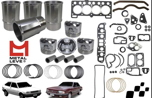 Kit Motor Ford Cht 1.6 1987 A 1991 Alcool Metal Leve