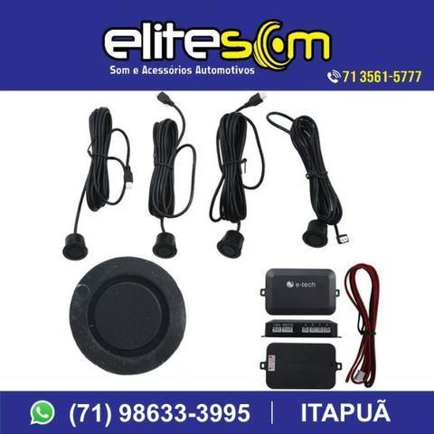 Sensor de Estacionamento Emborrachado com Display, instalado na Elite Som