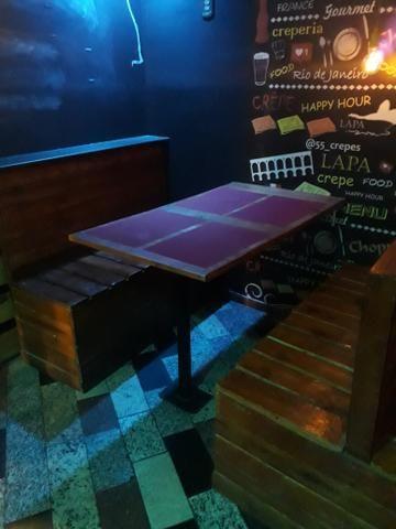 Jogo de mesas e banco corrido - Foto 5