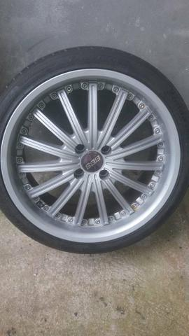 Rodas aro 17 +2 pares de pneus 205 e 215 _17 - Foto 6