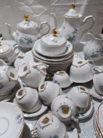 Jogo de café, chá e bolo Porcelana Barão do Rio Branco - Foto 2