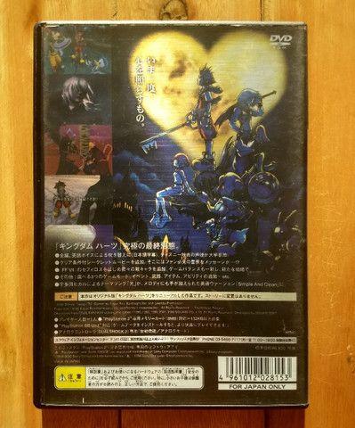 Kingdom Hearts Final Mix - PS2 - Japonês Original - Foto 2