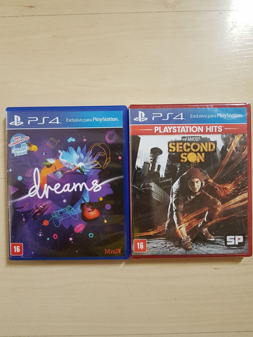 INFAMOUS SECOND SON e UNCHARTED 4, ps4
