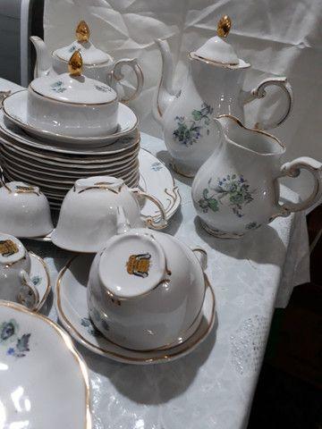 Jogo de café, chá e bolo Porcelana Barão do Rio Branco - Foto 3