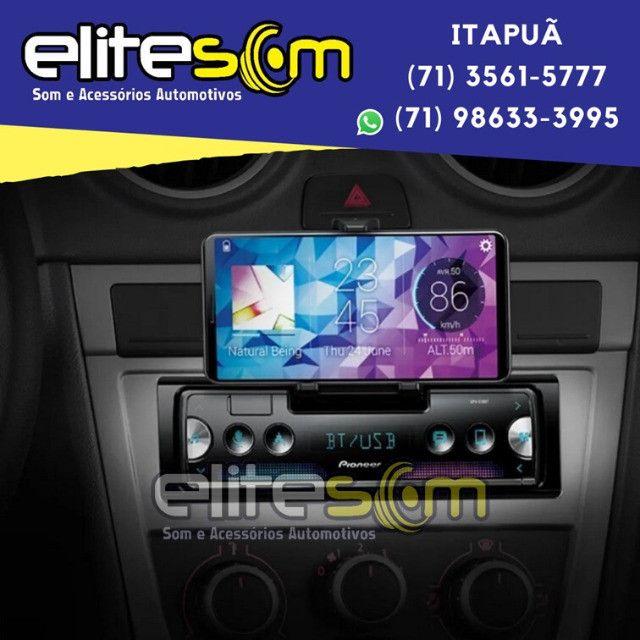Aparelho Pioneer Sph-c10bt Smartphone Bluetooth Smart Sync instalado na Elite Som - Foto 2