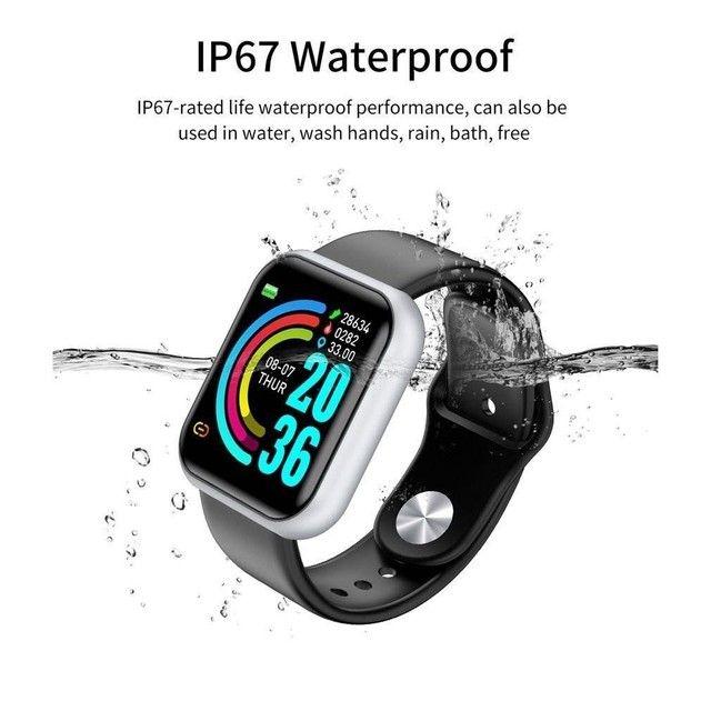 Y68 D20 Relógio Smart Watch com Bluetooth USB com Monitor Cardíaco - Foto 5