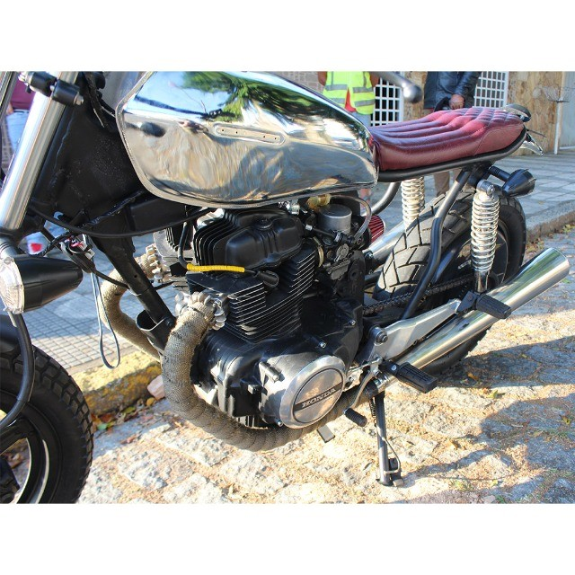 Moto Coffe Racer Custom - CB 400 82 Estilizada Tracker 1982 - Foto 11