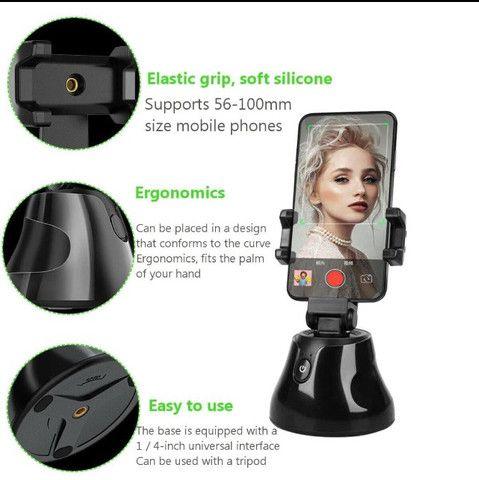 Smart Selfie Gimbal Stick Rotação De 360 Graus - Foto 2