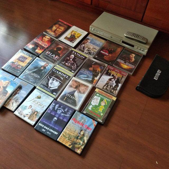 coleção 21 filmes dvd originais + aparelho philips  - Foto 2