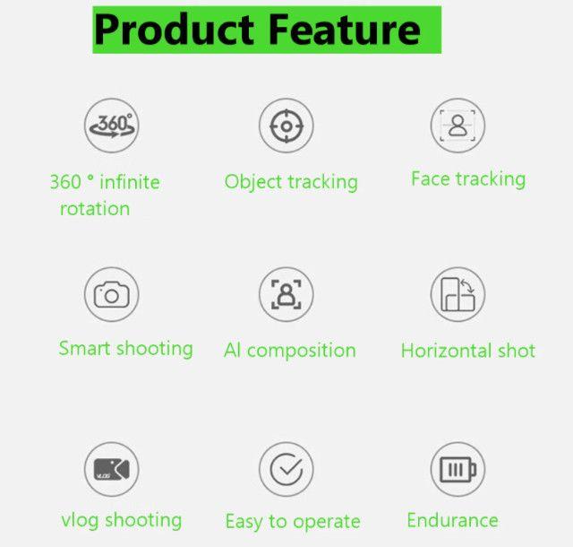 Smart Selfie Gimbal Stick Rotação De 360 Graus - Foto 4