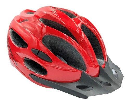 Capacete Ciclismo Absolute Nero Com Pisca Led Bike Mtb Speed - Foto 2