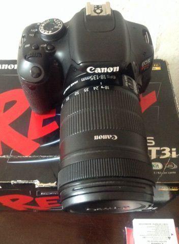 Canon T3i + Lente 18-135 + 50mm