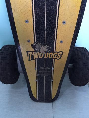Two dogs skate elétrico