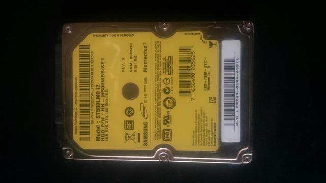 Hd para notebook marca Samsung 500gb
