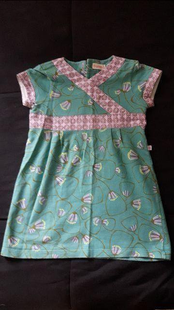 Vestido em malha, estilo oriental, da Green, Tamanho 24/36 meses