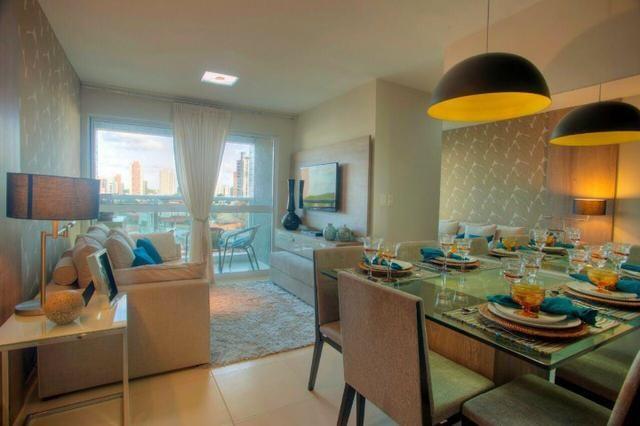 Apartamento todo mobiliado em Capim Macio 2 quartos Condomínio Paradise Village